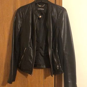 Express (without the) leather moto jacket
